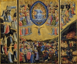 Immagine presa da qui https://it.wikipedia.org/wiki/Trittico_del_Giudizio_universale#/media/File:Fra_Angelico_-_The_Last_Judgement_(Winged_Altar)_-_Google_Art_Project.jpg
